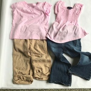 Lot of 4 pieces toddler girl's clothes.